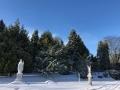 Snow around St Mary's Church (1)